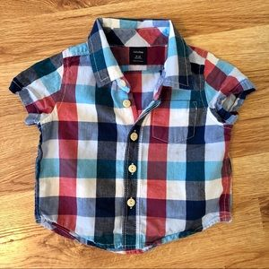 BabyGap Checkered Baby T-Shirt Size 6 - 12